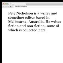 Pete Nicholson Website