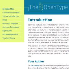 The Unofficial OpenType Cookbook