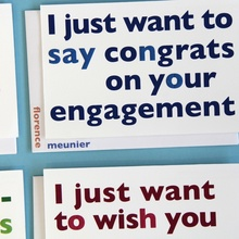 Double meaning greeting cards