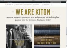 <cite>Kiton</cite> website