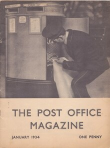 <cite>The Post Office Magazine</cite> (Vol. 1, issue 1, Jan 1934)