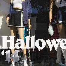 American Apparel: Halloween window display