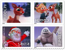 <cite>Rudolph the Red-Nosed Reindeer</cite> postage stamps