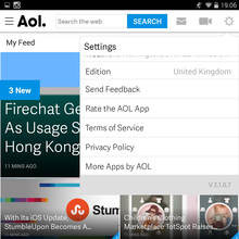 Aol website and app