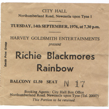 Gig ticket stub
