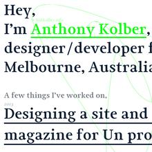 Anthony Kolber website