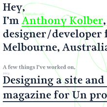 Anthony Kolber website