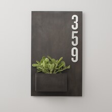 Schoolhouse Steel Planter and Magnetic House Numbers