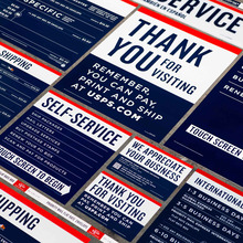 USPS signage & identity redesigns (2013)