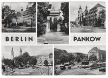 Berlin Pankow tourism postcard