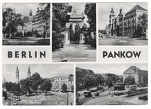 Berlin Pankow tourism postcard