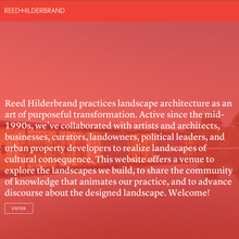 <cite>Reed Hilderbrand</cite> website