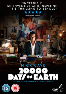 <cite>20,000 Days on Earth</cite> poster and promo goods
