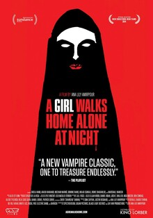 <cite>A Girl Walks Home Along At Night</cite> poster
