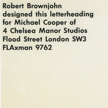 Michael Cooper stationery