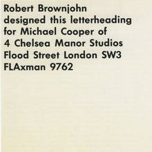Michael Cooper stationery