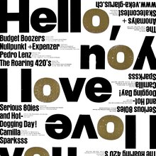 """Hello I love you"" poster"