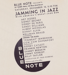 <cite>Jamming in Jazz</cite> concert poster