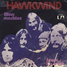 <cite>Silver Machine</cite> by Hawkwind (United Artists Records)