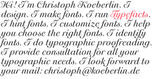 Christoph Koeberlin personal site