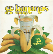 Banana shake ad by McDonald's