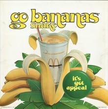 Banana shake ad by McDonald's