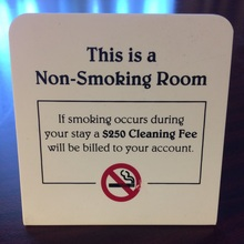 This is a Non-Smoking Room