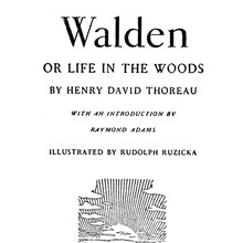 <cite>Walden, or Life in the Woods</cite> (The Lakeside Press edition)