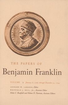 <cite>The Papers of Benjamin Franklin</cite>