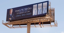 <cite>Better Call Saul:</cite> James M. McGill billboard