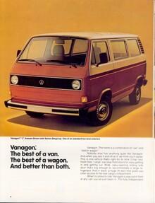 1980 Vanagon brochure