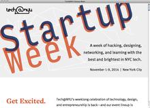 <cite>NYU Startup Week</cite> website