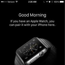 Apple Watch iOS app