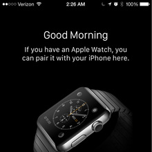 Apple Watch iOS app