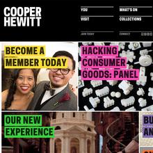 Cooper Hewitt (2014) branding, wayfinding, website