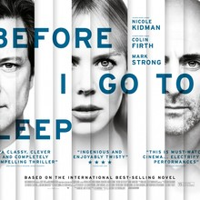 <cite>Before I Go To Sleep</cite> UK poster