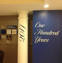 Bentley University exhibit signage
