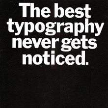 "SH&L ad: ""The best typography never gets noticed."""