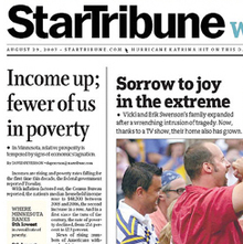 <cite>Minneapolis StarTribune</cite> – Front Pages