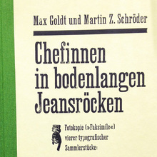 <cite>Chefinnen in bodenlangen Jeansröcken</cite>book cover