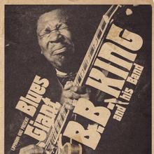 B.B. King 1971 German tour poster