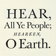 Pentagram Papers 44: <cite>Hear, All Ye People; Hearken, O Earth!</cite>