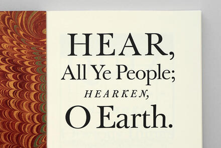 Pentagram Papers 44: <cite>Hear, All Ye People; Hearken, O Earth!</cite>