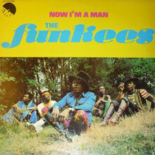 The Funkees – <cite>Now I'm a Man</cite> album art
