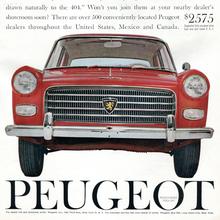 Peugeot of America ads (1958–61)