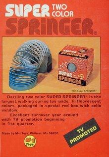Two Color Super Springer ad