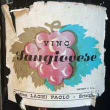 Vino Sangiovese wine label