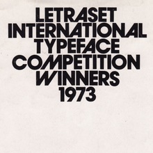 Letraset International Typeface Competition Winners 1973