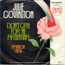 <cite>Don't Cry For Me Argentina / Rainbow High</cite>