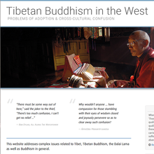 Tibetan Buddhism in the West